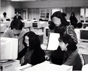 1990年当時のコンピュータ演習室(7104)
