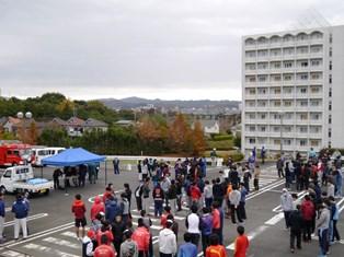 第二キャンパス駐車場への避難